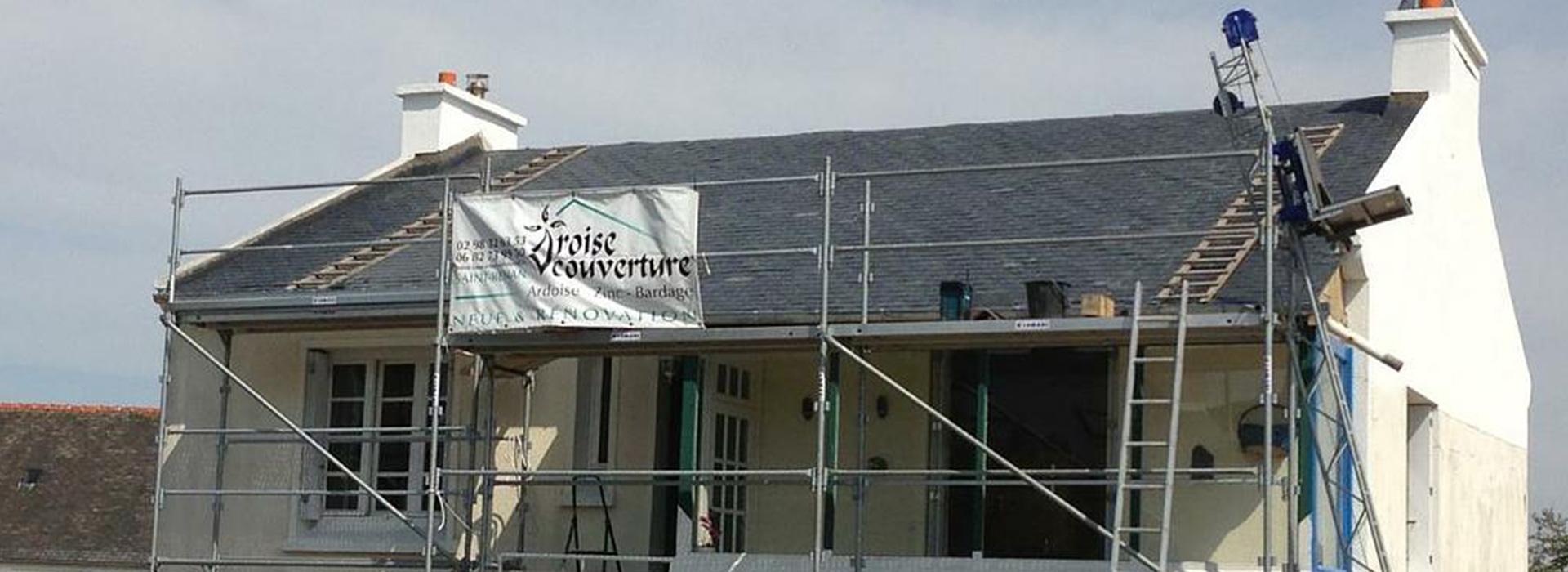 spécialiste de la toiture ardoise, Iroise Couverture